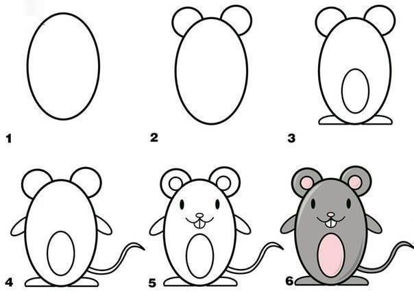 - Dessiner une souris ...