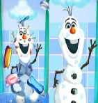 Frozen Olaf Cleans