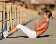 تمارين لشد عضلات البطن بعد الولاده