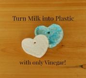 أصنع البلاستيك من اللبن و الخل الأبيض فقط