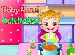 بيبي هازل في المطبخ