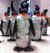 البطريق من الزجاجات البلاستكية