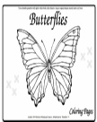 Butterflies Coloring pdf
