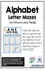 Alphabet Letter Mazes  Different Fonts