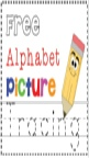 Alphabet Picture Tracing